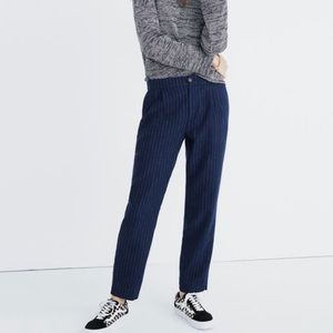 Madewell Pinstripe Trouser Pants